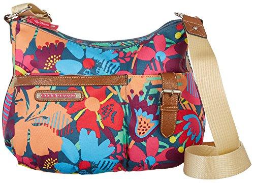 Hobo Bloom Summer Lily Handbag Print Kathryn Blue Teal Multi qgwIIdRn