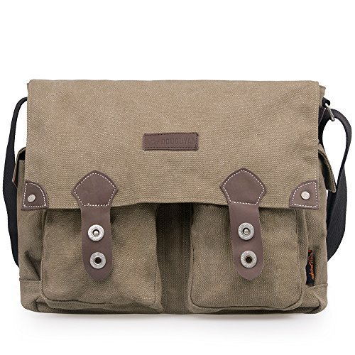 Douguyan Unisex Messenger Bag Fashionable and Best Style Backpack for Men and Women Brown 43608