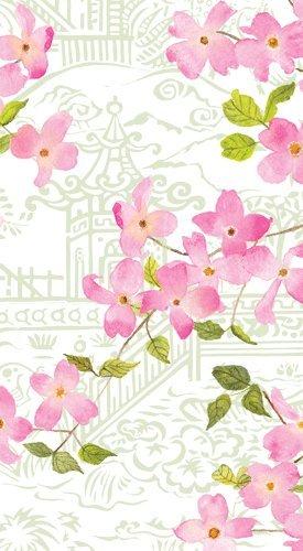 Caspari Guest Towels Paper Hand Towels Bathroom Decor Party Supplies Blossoming Branches Pk 30
