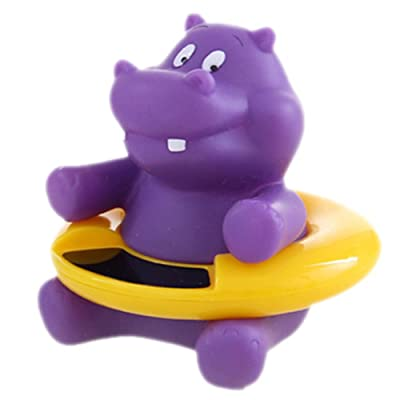 Baby Bath Thermometer Floating Bathtub Toy Hippo : Baby