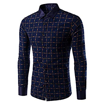 Man In Overhemd.Spring Long Sleeve Men S Shirt Fashion Slim Fit Mens Shirts Social