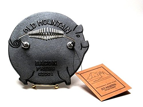 VoojoStore Old Mountain Cast Iron Pig Grill Press - Unique Gift For Birthday Christmas Wedding Anniversary Engagement Graduation Couples Men Women Mom Dad Grandpa Sister Wife Husband Friends