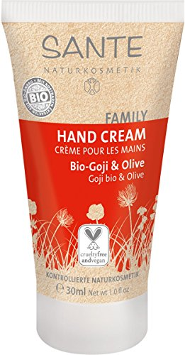 Sante Naturkosmetik Handcreme Bio-Goje und olive 30ml, 1er Pack (1 x 30 ml)