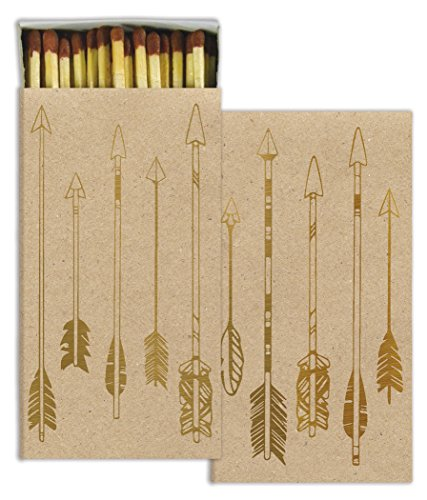 HomArt Gold Arrows Match Box with Wooden Matches