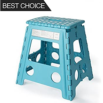 Acko 16 Inches Super Strong Folding Step Stool for Adults and Kids Light Blue Kitchen  sc 1 st  Amazon.com & Amazon.com: Super Strong Folding Step Stool - 11