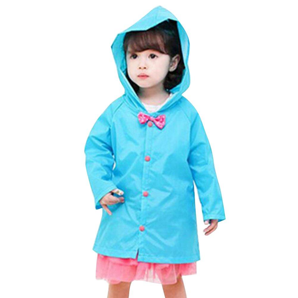 Highdas Prinzessin Bow Kinder Poncho Dickes Nylon Kinder Raincoat (blau) 2-3Y Hiqimi Network technology Ltd N160502RAIN06-I