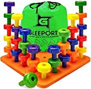 Stacking Peg Board Set Toy - Montessori Occupational Therapy Early Learning for Fine Motor Skills, Ideal for T