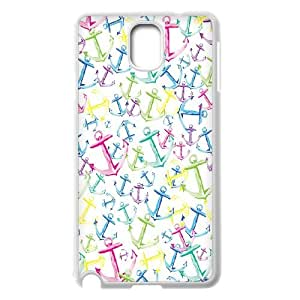 Colorful Anchors Samsung Galaxy Note 3 Case, Doah - White