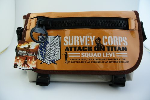 Attack on Titan Deka(big)-zip Messenger Bag Survey Corps