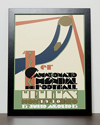 Uruguay 1934 World Cup Poster (A3) - 29.7cm x 42.0cm