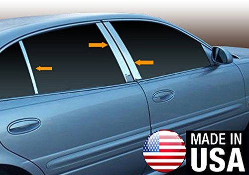(Made in USA! Works With 00-05 Buick LeSabre 6PC Stainless Steel Chrome Pillar Post Trim)