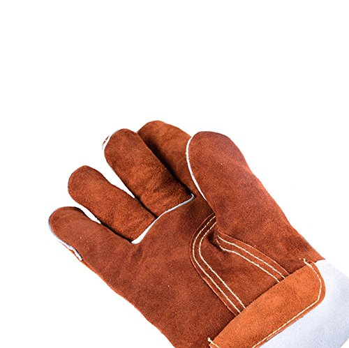 Resistant to 250 degrees high temperature welder gloves gas welding extended wear thickening insulation labor safety products safety gloves , xl by LIXIANG (Image #1)