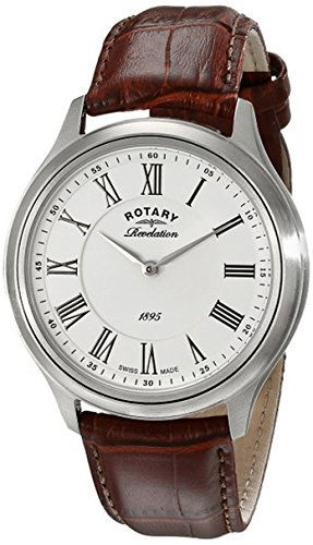Rotary Men's gs02965/05/21 Stainless Steel Watch with Rotating Case