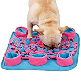 FXQIN Portable Snuffle Mat for Dogs Pet Feeding Mat Training Mats Toys Foraging Skill Blanket for Indoor/Outdoor Activity