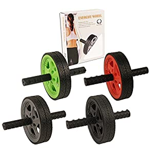 Da Vinci Dual Wheel Ab Exerciser Best Abdominal Rollout Equipment with Anti Slip Foam Grips & Double Wheels
