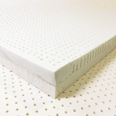 Certified Organic Dual Comfort 2 Zone Latex Mattress Topper By Organic Textiles, The One That Will Give You Convenience and Satisfaction When Sleeping, Anti Fungal, Dust Mite Resilient