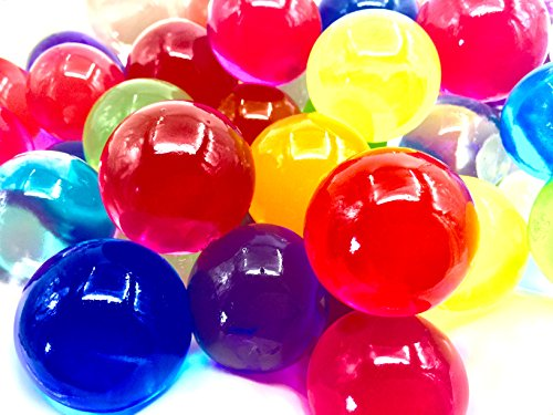 72 Packs Rainbow Water Beads Gel 6 Colors - 4~5 Grams per Pack - for Vase Fillers, Fresh Flowers, Plants, Sensory Toys and Candle Arrangements (12 Sheets, 6 Bags) - Waterball Toy