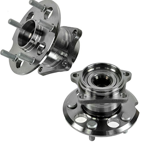 (Detroit Axle - Rear Driver and Passenger Wheel Hub and Bearing Assembly for 2001 2002 2003 2004 2005 Toyota Rav4 AWD/4WD 5-Lug Models)