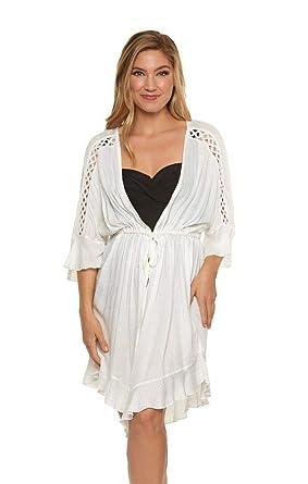 becd8e0942 Amazon.com: Dotti Women's Island Lace Kimono Cover-Up: Dotti: Clothing