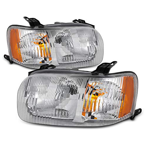 For 2001 2002 2003 2004 Ford Escape OE Style Chrome Housing Headlight Assembly ()