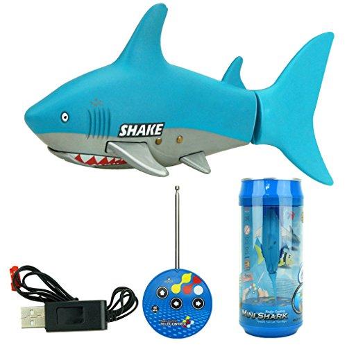 Fenteer Mini Tiburón Teledirigido Juguete Electrónico Enfriador de Agua Regalo para Niños
