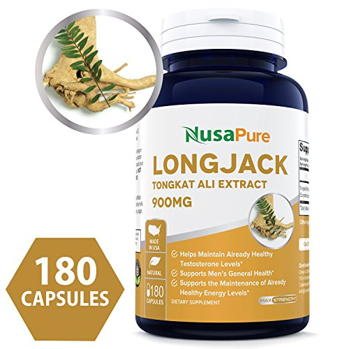 Extract Ali - Pure Longjack Tongkat Ali 900mg 180 Caps (Non-GMO & Gluten Free) - Natural Testosterone Booster, Increase Physical Endurance - Made in USA - 100% Money Back Guarantee - Order Risk Free!