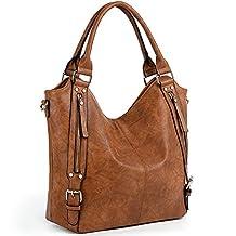 UTO Women Handbags Hobo Shoulder Bags Tote PU Leather Handbags Fashion Large Capacity Bags