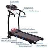 Heavens Tvcz Electric Treadmill Folding Running Machine Black Fitness Motorized Power Gym Portable Support Exercise Home Jogging 1500W