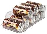 Home Basics Refrigerator and Freezer Soda Can Drink Holder Storage Bin, Clear