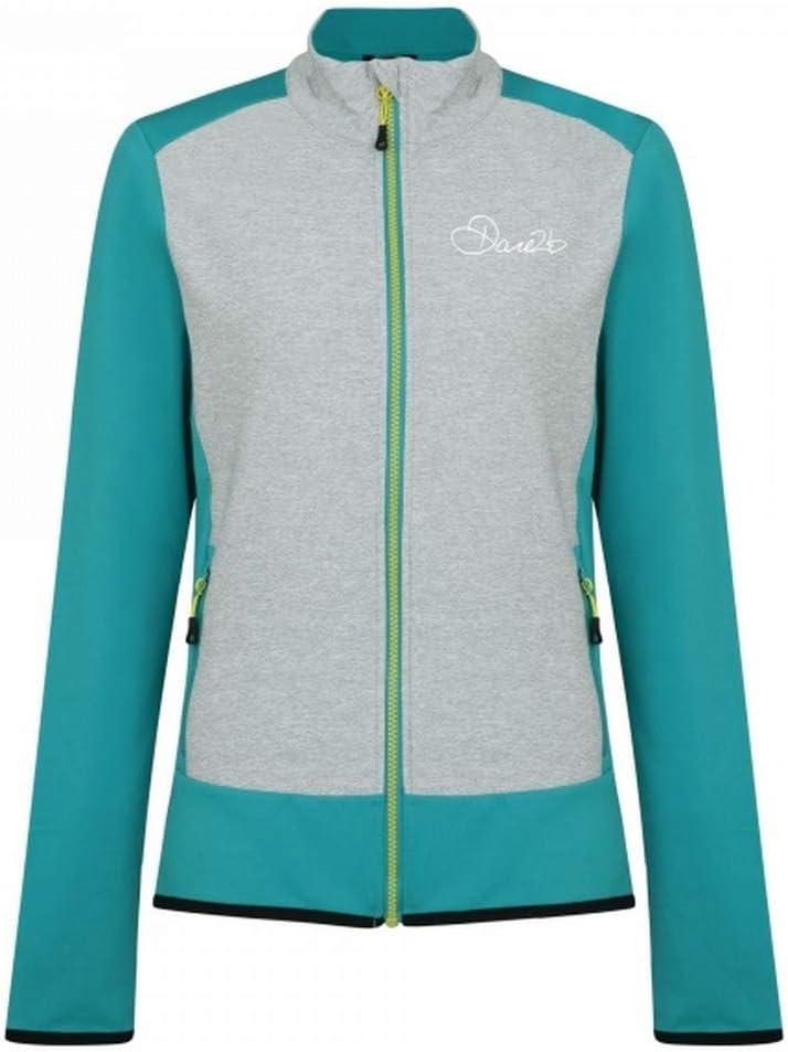 Dare 2b Women/'s Immerge Full Zip Core Stretch Midlayer Jacket Green