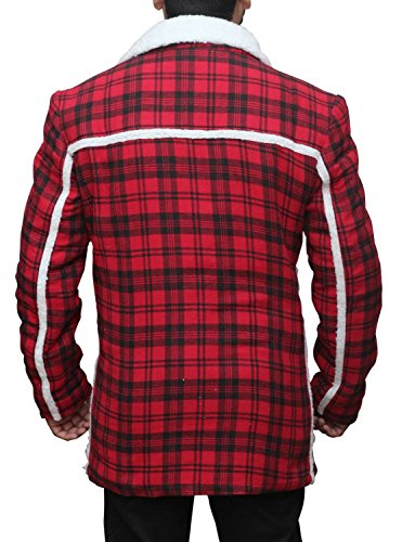 BlingSoul Deadpool Flannel Jacket Costume Cosplay - Faux shealing Coat For Halloween (L, Red Cotton) by BlingSoul (Image #2)