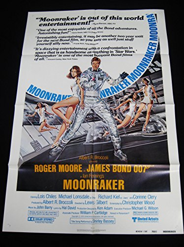 MOONRAKER 1979 ROGER MOORE JAMES BOND 007 27 x 41 REVIEW ONE SHEET C10 MINT UNUSED!!
