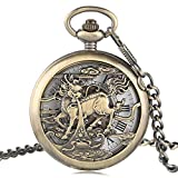 Vintage Pocket Watch, Fashion Unique Mechanical Pocket Watch, Gift for Men Women