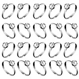 Whaline 36 Pcs Silver Diamond Engagement Rings for Wedding Table Decorations, Party Supply, Favor Accents, Cupcake Toppers (36 Packs) Reviews