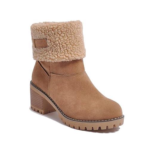 bottes de neige cuir femme