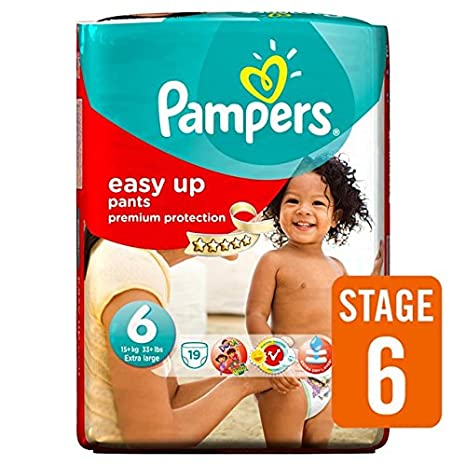 Pampers Easy Ups Couches Taille 6 Carry Pack de 19 par paquet: Amazon.es: Bebé