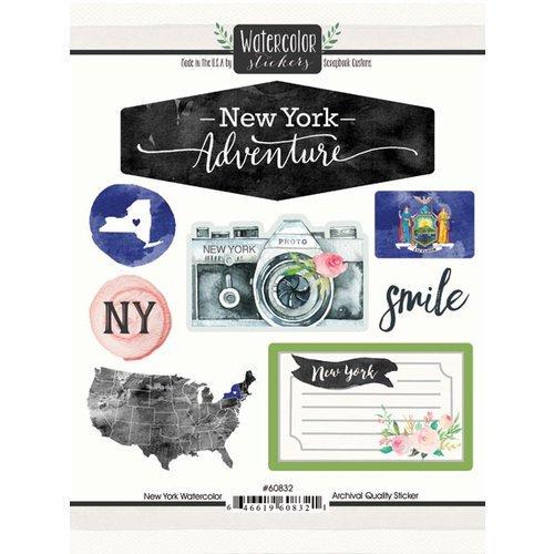 New York Watercolor Scrapbook Stickers (60832) (Scrapbooking York New)