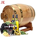 3L Whisky Red Wine Oak Barrel Keg Wine Spirits Port Liquor Wood French Toasted Wine Barrels Brewing Equipment