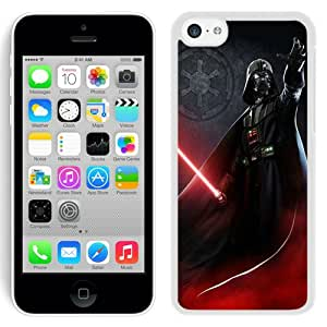 Beautiful And Unique Designed Case For iPhone 5C With Darth Vader White Phone Case