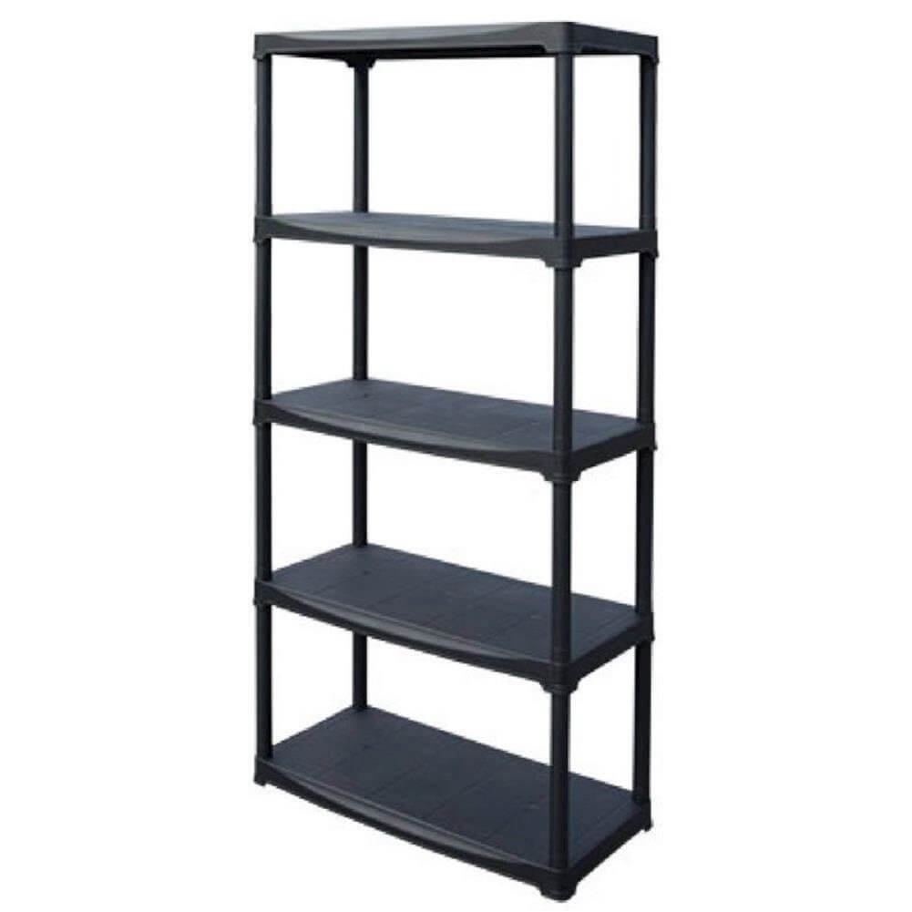 Art Plast Plastic Shelf, Black, black, T70/5