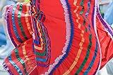 Mexican Dress Print Unframed Street Photography Cultural Fine Art Bright Red Wall Decor Festival Clothing Photo 5x7 8x12 12x18 16x24 20x30 24x36