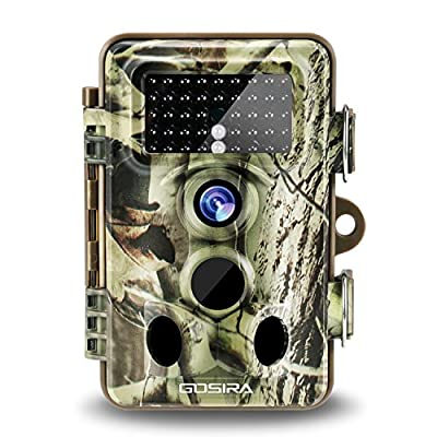Gosira Trail Camera 16MP HD 0.35s Trigger Speed Motion Activated 120°Sensor Zone Latest 42pcs 940nm Infrared LED No Flash Low Glow Night Vision Great Game Cam for Outdoors Hunting Wildlife Accessories by Gosira