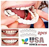 Veneers Snap in Teeth, STCORPS7 Braces Veneers Dentures Fake Teeth Smile Snap Instant and Confident on Smile 2Pcs Comfort Fit Flex Cosmetic Teeth Denture Teeth Top Cosmetic Veneer (2pcs.)