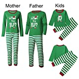 Clearance! DDLBiz Christmas Family Clothes Set, Mommy &Daddy&Me Children Boys Girls Letter Tops Striped Pants Set (Dad, M)