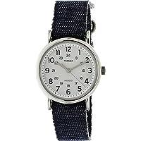 Timex Weekender TW2R10600 White/Blue Nylon Analog Quartz Unisex Watch