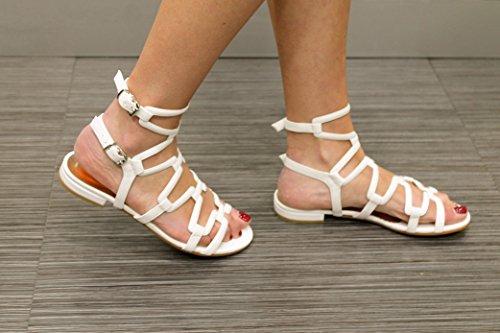 ALBANO - Sandalias de vestir de Piel para mujer Soft Bianco