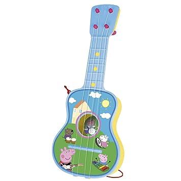 Peppa Pig - Guitarra en estuche, 4 cuerdas (Claudio Reig 2339.0), colores surtidos: Amazon.es: Juguetes y juegos