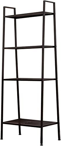 SANGDA Bookshelf Ladder Shelf,4 Tier Bookcase Plant Flower Stand Rack Book Rack Storage Shelves Display Shelf Accent Furniture
