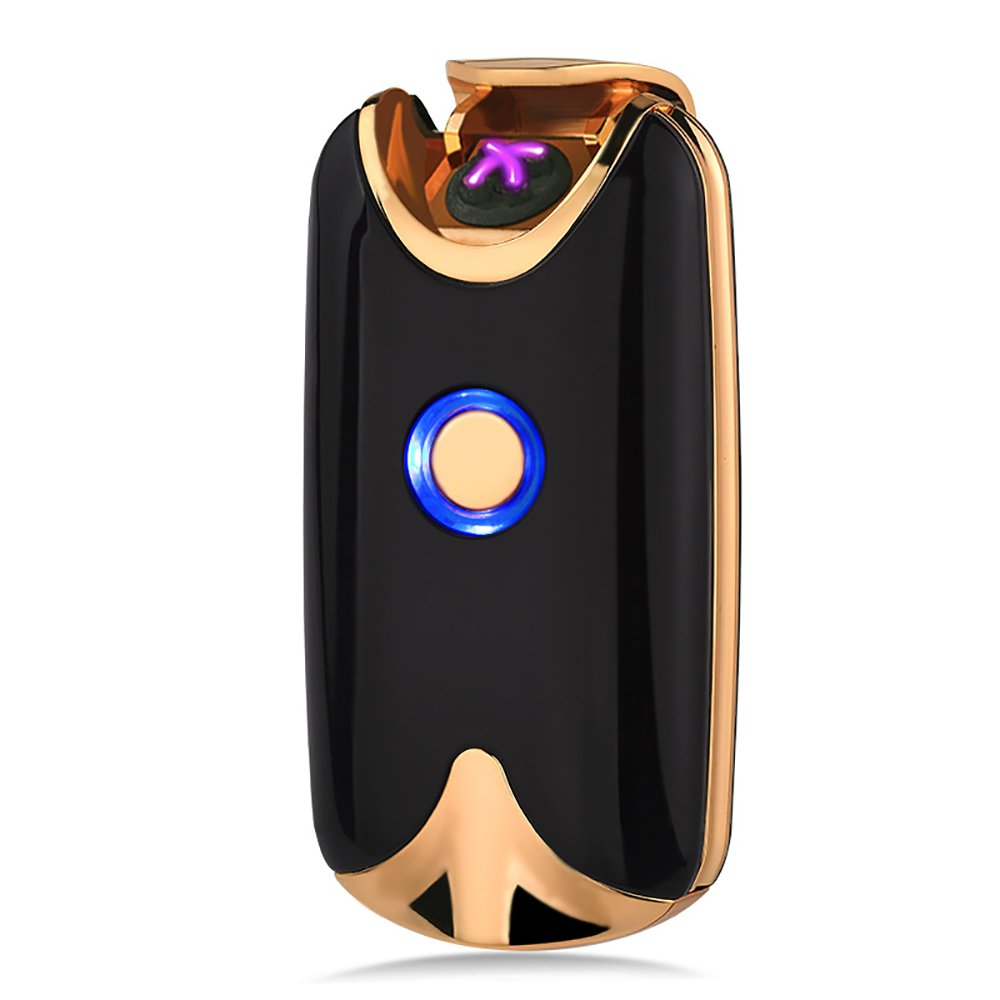 Oiikury Tesla Plasma Lighter USB Rechargeable Windproof Electric Lighter Dual arc(Black)