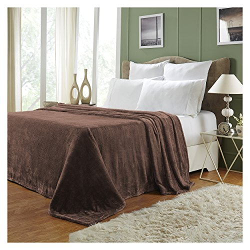 Superior Quality All-Season, Plush, Silky Soft, Fleece Blankets and Throws, Chocolate, King - Chocolate Plush Blanket